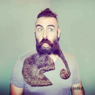 Mr. Incredibeard и его эпические скульптуры из бороды